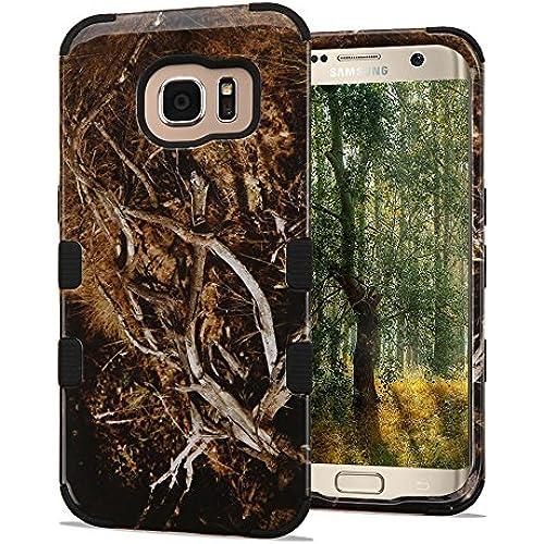 Samsung Galaxy S7 Edge Case, JoJoGoldStar TUFF Designer Hybrid, Slim Fit Plastic and Silicone TPU Cover - Branches Sales