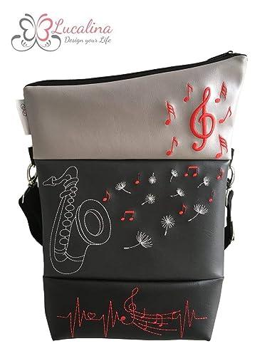 Schultertaschen Foldover Musik Saxophon Schultertasche Handtasche Tasche SzVqUGMp