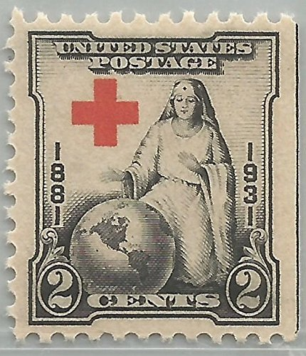 U.S. Postage Stamps,1931 2c Red Cross, 50th Anniversary Scott 702 Mint F/VF NH