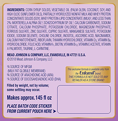 Enfamil NeuroPro Gentlease Infant Formula - Clinically Proven to reduce fussiness, gas, crying in 24 hours - Brain Building Nutrition Inspired by breast milk - Reusable Powder Tub, 20 oz by Enfamil (Image #8)