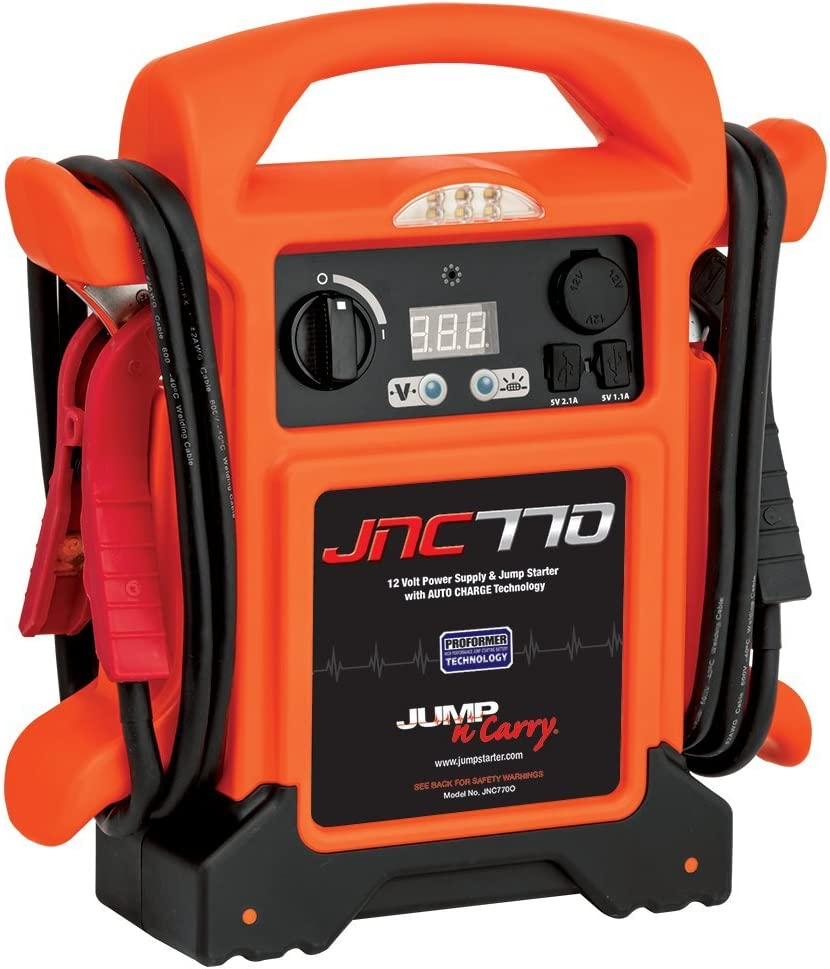 Clore Automotive Jump-N-Carry JNC770O 1700 Peak Amp Premium 12 Volt Jump Starter - Orange w/Cover
