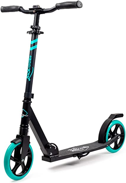 "Amazon.com : Lascoota Scooters for Kids 8 Years and up - Quick-Release Folding System - Front Suspension System + Scooter Shoulder Strap 7.9"" Big Wheels Great Scooters for Adults and Teens : Sports & Outdoors"