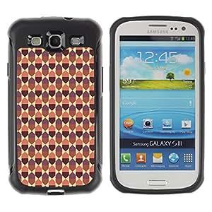 Qstar Arte & diseño Anti-Slip Shockproof TPU Fundas Cover Cubre Case para SAMSUNG Galaxy S3 III / i9300 / i747 (diamond pattern)