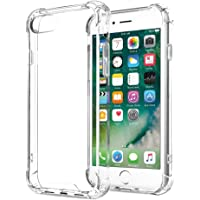 iPhone 7 Case, Airsspu iPhone 7 Case Clear Shockproof Bumper Transparent Silicon TPU Ultra Thin Crystal Soft Cover for iPhone X (Clear-Hard)