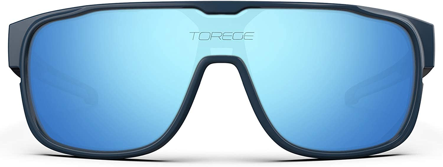 TOREGE Polarized Sports Sunglasses for Man Women Cycling Running Fishing Golf TR90 Fashion Frame TR13 Racer