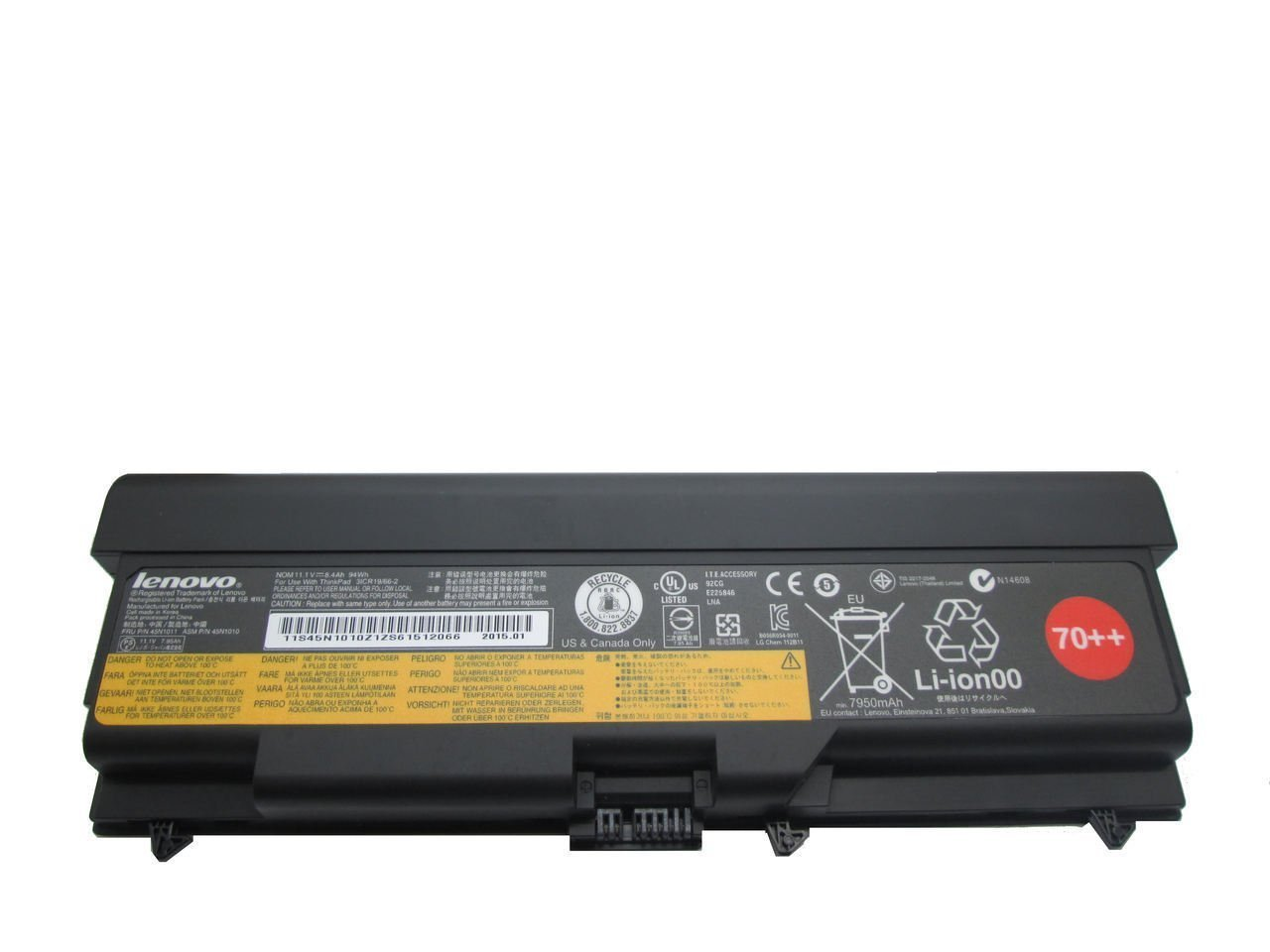 New Genuine Lenovo Thinkpad T430 L420 L520 T530 9 Cell 7950mAh 94Wh Battery 45N1011 by For Lenovo