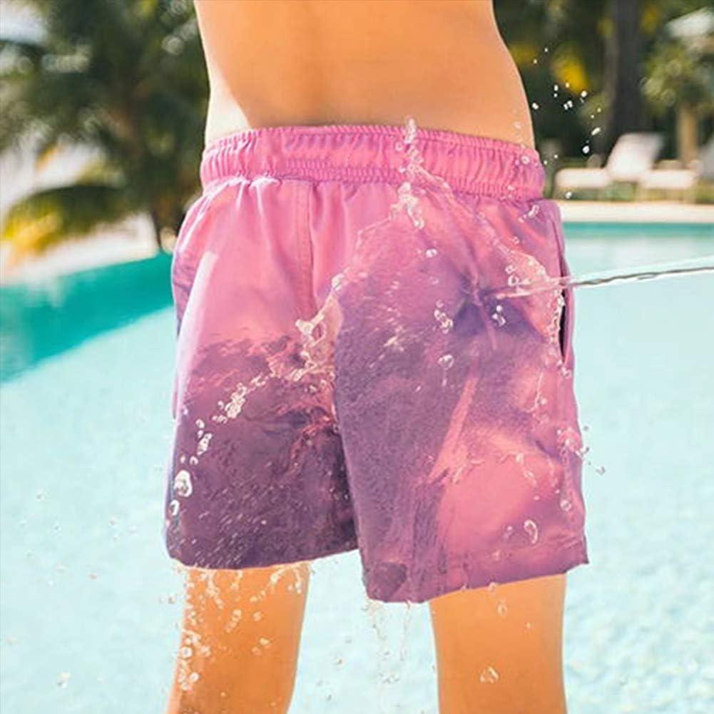 Nuoto Festa Estate Asciugatura Rapida Pantaloncini Nuoto Costume da Bagno per Sport Spiaggia Ouduo Cambia Colore Spiaggia Pantaloncini Uomini