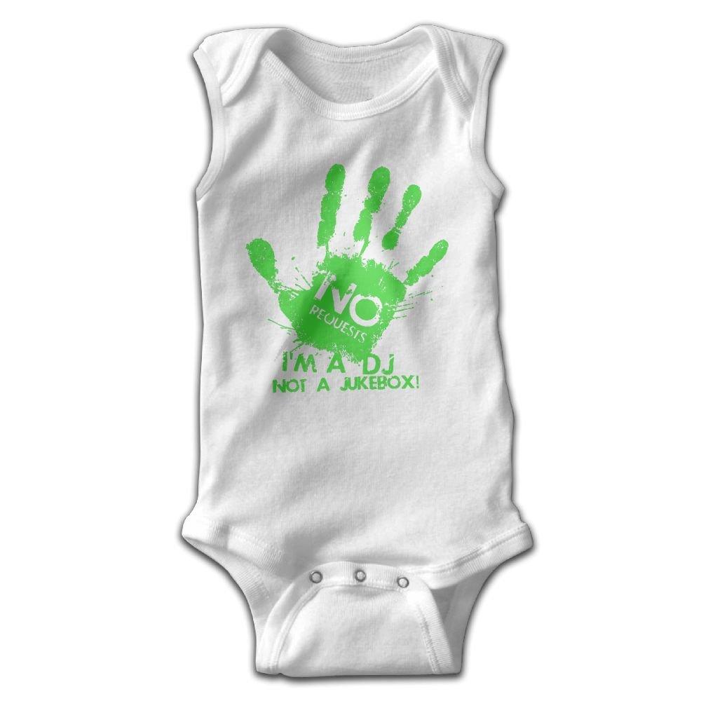 Efbj Infant Baby Girls Rompers Sleeveless Cotton Onesie Im The Dj Print Outfit Spring Pajamas Bodysuit
