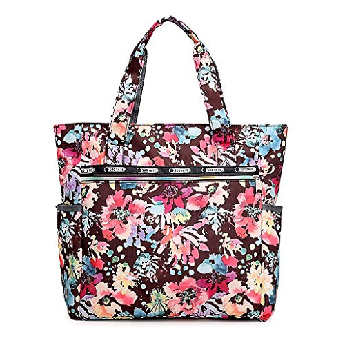 Sac 2 Shopper 8 À Fleur Plage Bandoulière JAGENIE Imprimer Nylon Grande Sacs Capacité Nouvelle Femmes Zipper 6Zqx8FwBUx