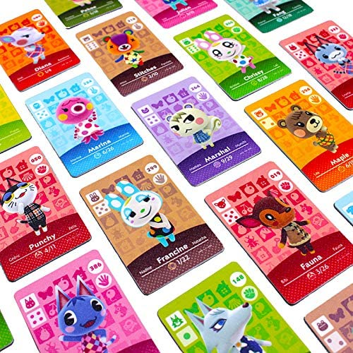 Animal Crossing New Horizons Cards – 24pcs, NFC Tag Game Cards for Switch/Switch Lite/Wii U, Mini Cards with Crystal Case (Cards&Red)