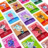 72 pcs ACNH NFC Tag Game Cards for New Horizons compatible with Switch/Switch Lite/Wii U, Mini Cards with Crystal Case