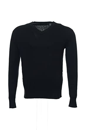 Sean John Mens Black Cable Knit V Neck Sweater At Amazon Mens
