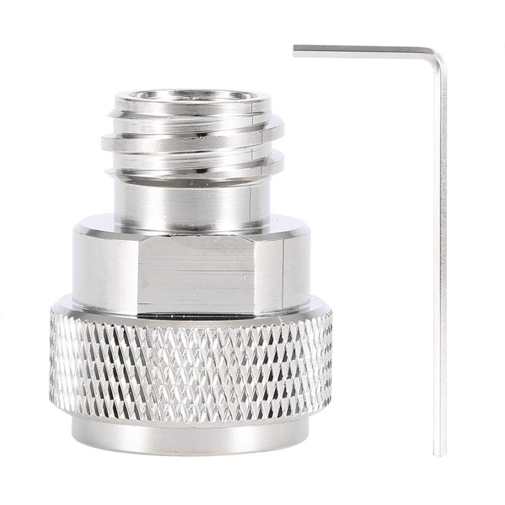Fdit 2 Colors Brass CO2 Adapter Replace Tank Canister Conversion for Soda Stream(Silver) by Fdit