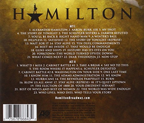 Large Product Image of Hamilton (Original Broadway Cast Recording)(Explicit)(2CD)