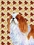 Caroline's Treasures SS4349CHF English Toy Spaniel Fall Leaves Portrait Flag Canvas, Large, Multicolor Review