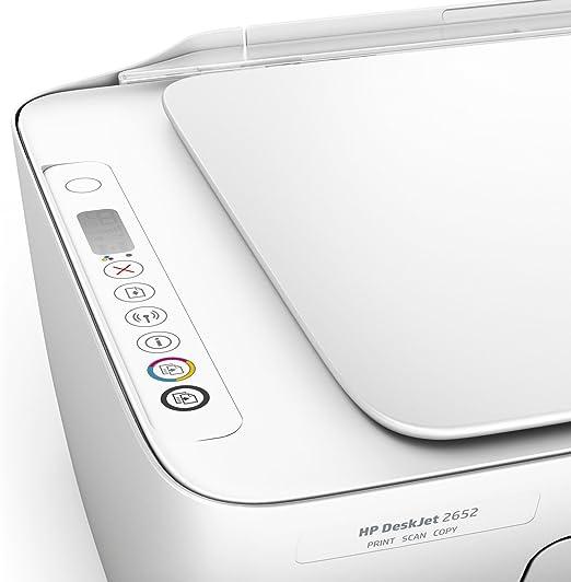 Amazon.com: HP DeskJet 2652 All-in-One Printer in White ...