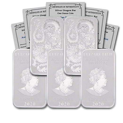 2020 AU Australia 1 oz Silver Dragon BU w//COA In CoinFolio Coin Flip $1 Brilliant Uncirculated