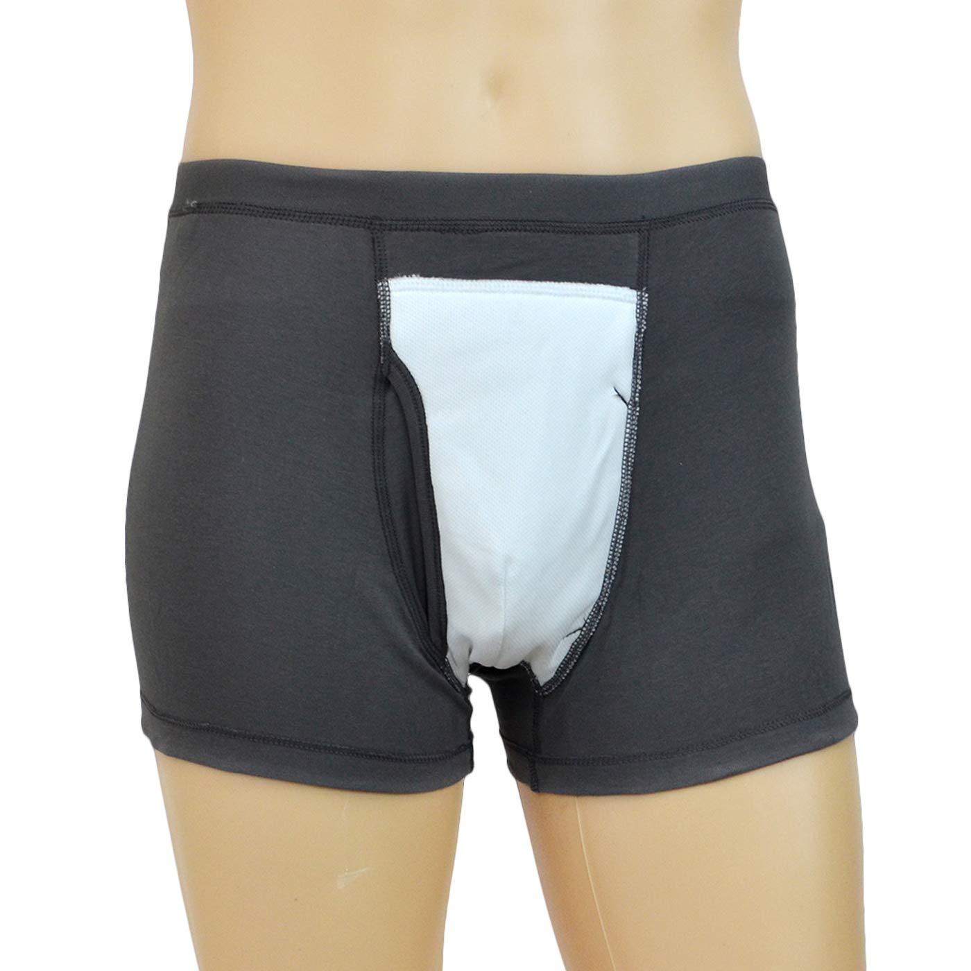 GHzzY Pantaloni per incontinenza Pannolino per Adulti Riutilizzabile per Protezione a Tenuta stagna,M Intimo Lavabile per incontinenza con Area Assorbente Frontale