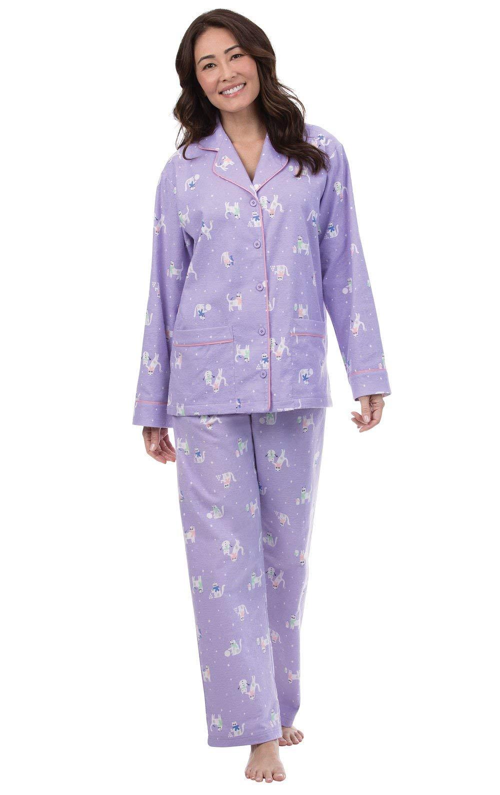 Pajamagram Flannel Pajamas Women Soft - Women'S Flannel Pajamas, Pet Lover -