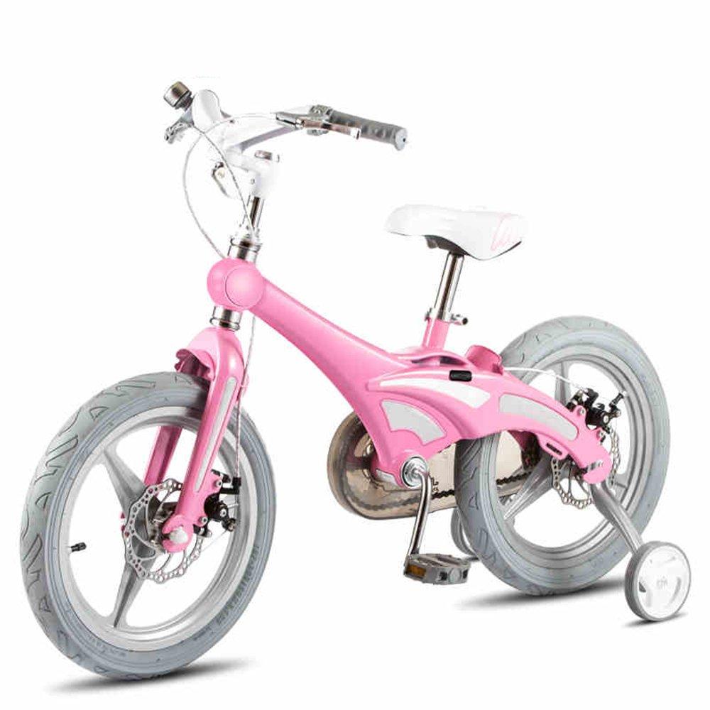 YANGFEI 子ども用自転車 子供の自転車男の子の自転車の女の子自転車の乳母車のベビーカー12/14/16インチの自転車マウンテンバイク子供の自転車2-8歳 212歳 B07DWTBMY3 12 inch|ピンク ぴんく ピンク ぴんく 12 inch