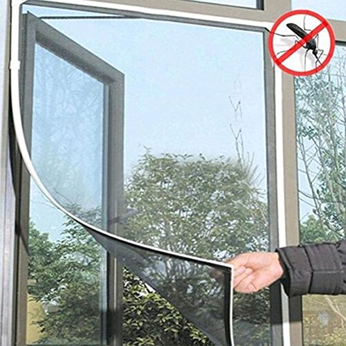 Accreate Practical DIY Stealth Window Screen Insect Fly Bug Mosquito Mesh Screen Window Netting (Black)