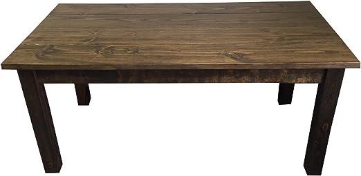 Amazon Com Rustic Dark Walnut Farmhouse Dining Table 72 Tables