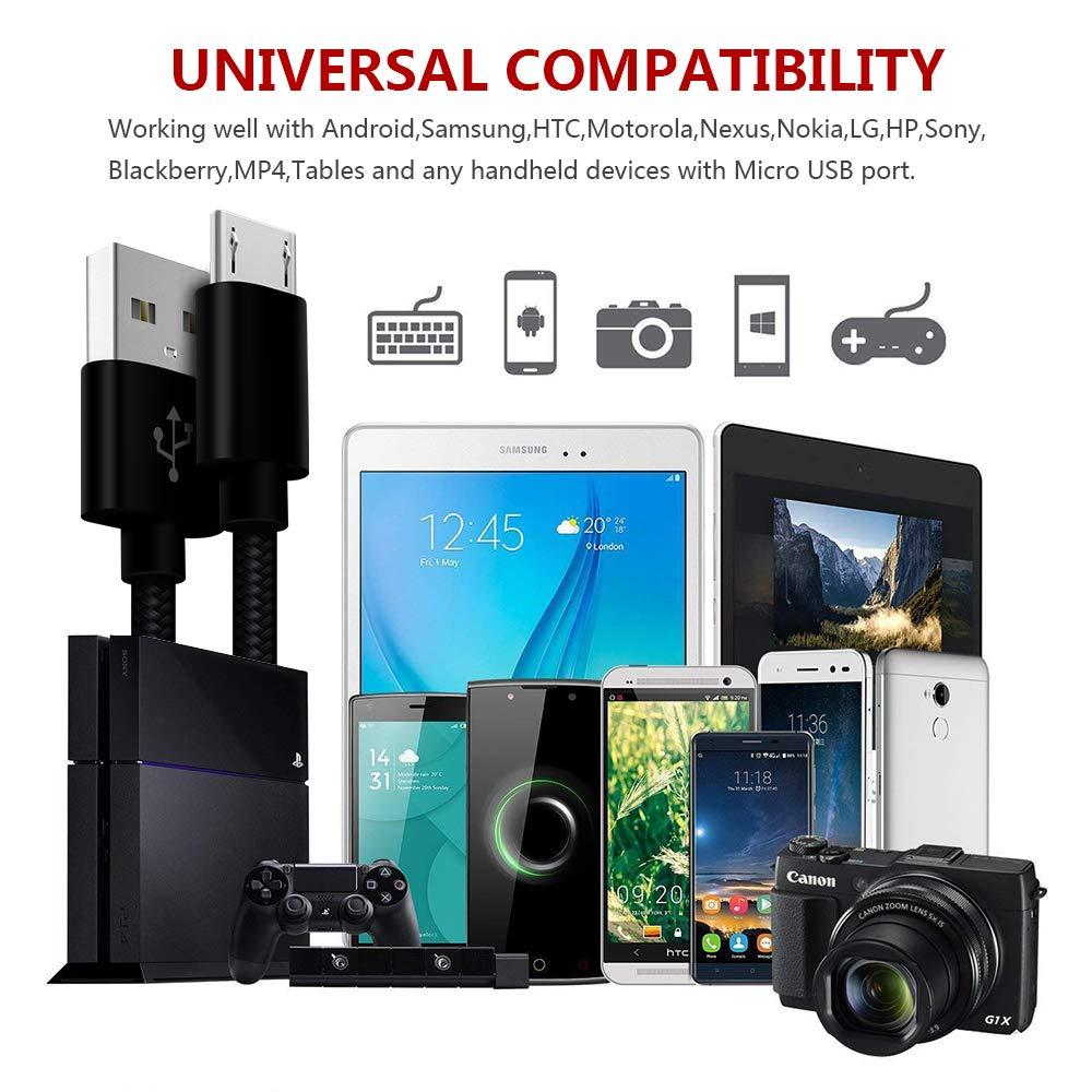 Amazon.com: Charger Cord for Motorola Moto G5 G5S G4 E5 E4 C G Plus E5/Play/Cruise /Supra HTC One M9/M8/M7/A9/x9/x10 Sony Xperia Z5 Z3 Premium Compact ...