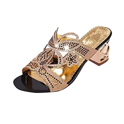 dae988a6cc1809 Lolittas Womens Diamante Sandals Leather Size 3-6