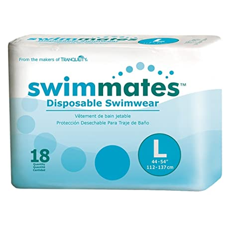 Amazon.com: Swimmates Disposable Adult Swim Diapers, Large, 18: Health & Personal Care