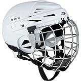 Casco de hockey sobre hielo kayro Worker Blanco con rejilla de protección de la cara