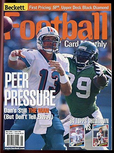 Beckett Football Card Monthly #98 May 1998 Peer Pressure Dan Marino Dolphins VERY GOOD