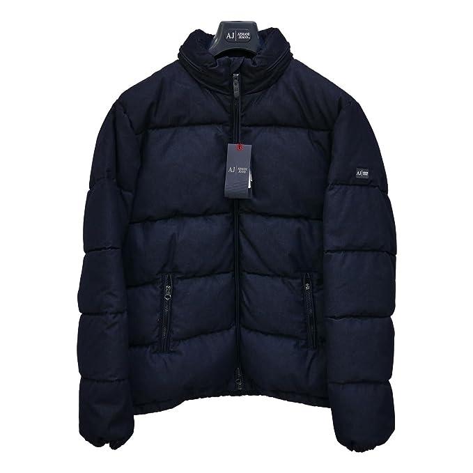 Armani para hombre diseño de tela vaquera azul de plumón de ganso chaqueta de globo 100% y auténtico de XXL/EU 54/UK 44: Amazon.es: Ropa y accesorios