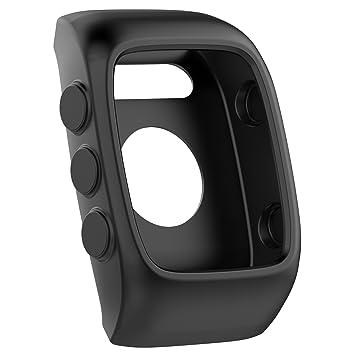 Funda protectora de repuesto para relojes Polar M430, de silicona suave y flexible, negro