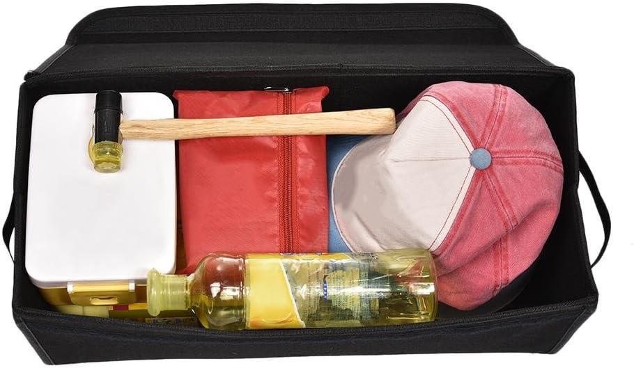 1er-Pack Onlyonehere Auto Organizer Schwarz Auto Aufbewahrungsbox Mit,Premium Kofferraumtasche Mit Deckel