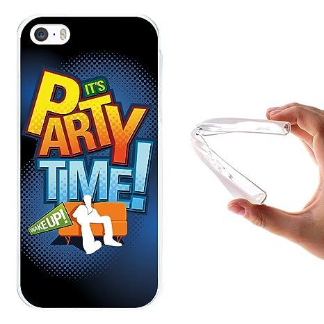 WoowCase Funda iPhone SE iPhone 5 5S, [iPhone SE iPhone 5 5S ] Funda Silicona Gel Flexible Frase Its Party Time, Carcasa Case TPU Silicona - ...