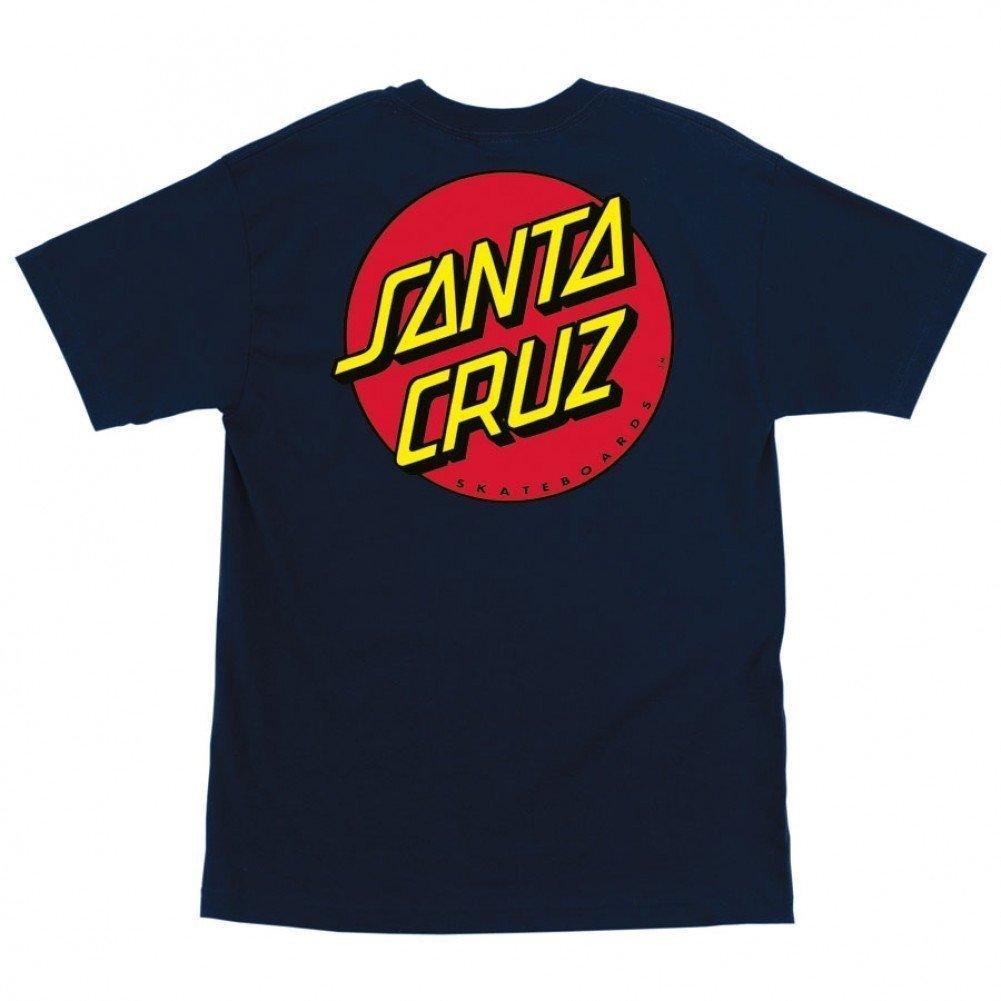 Santa Cruz Youth Boys Classic Dot Regular Short Sleeve Shirt Small Charcoal
