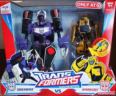 Transformers Animated Exclusive Deluxe Action Figure 2-Pack Shockwave VS. - Shockwave Targets