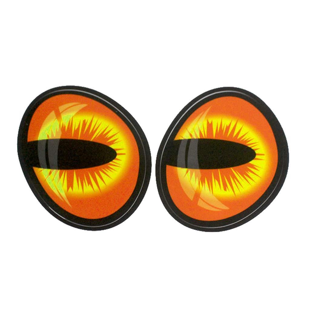 Riverlily Funny Eye Car Sticker Fuel Tank Cap Review Mirror Engine Hood Eyeball Decal Car Body Decoration Ornament