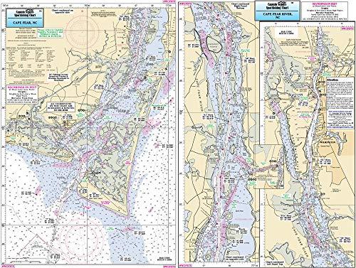 Captain Segull's Inshore Cape Fear River, NC Fishing Nautical Chart