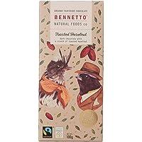 Bennetto Natural Foods Organic Toasted Hazelnut Dark Chocolate Bar, 100 g