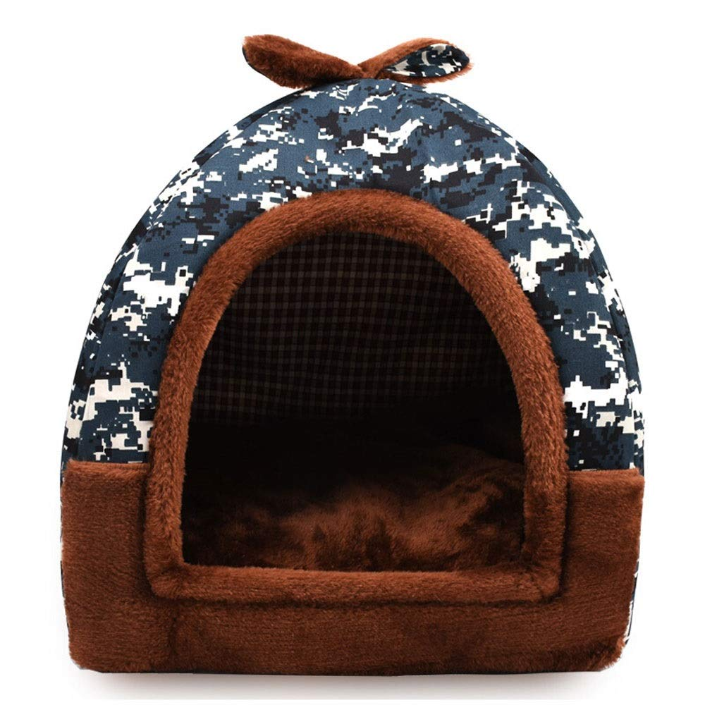 Large Xuoo Kennel Cat Litter Removable and Washable Summer Small Dog Teddy Pet Nest Pad House Yurt Dog House Four Seasons Universal Pet Wave Point Cat (Pattern   Small Flower Umbrella, Size   Large)