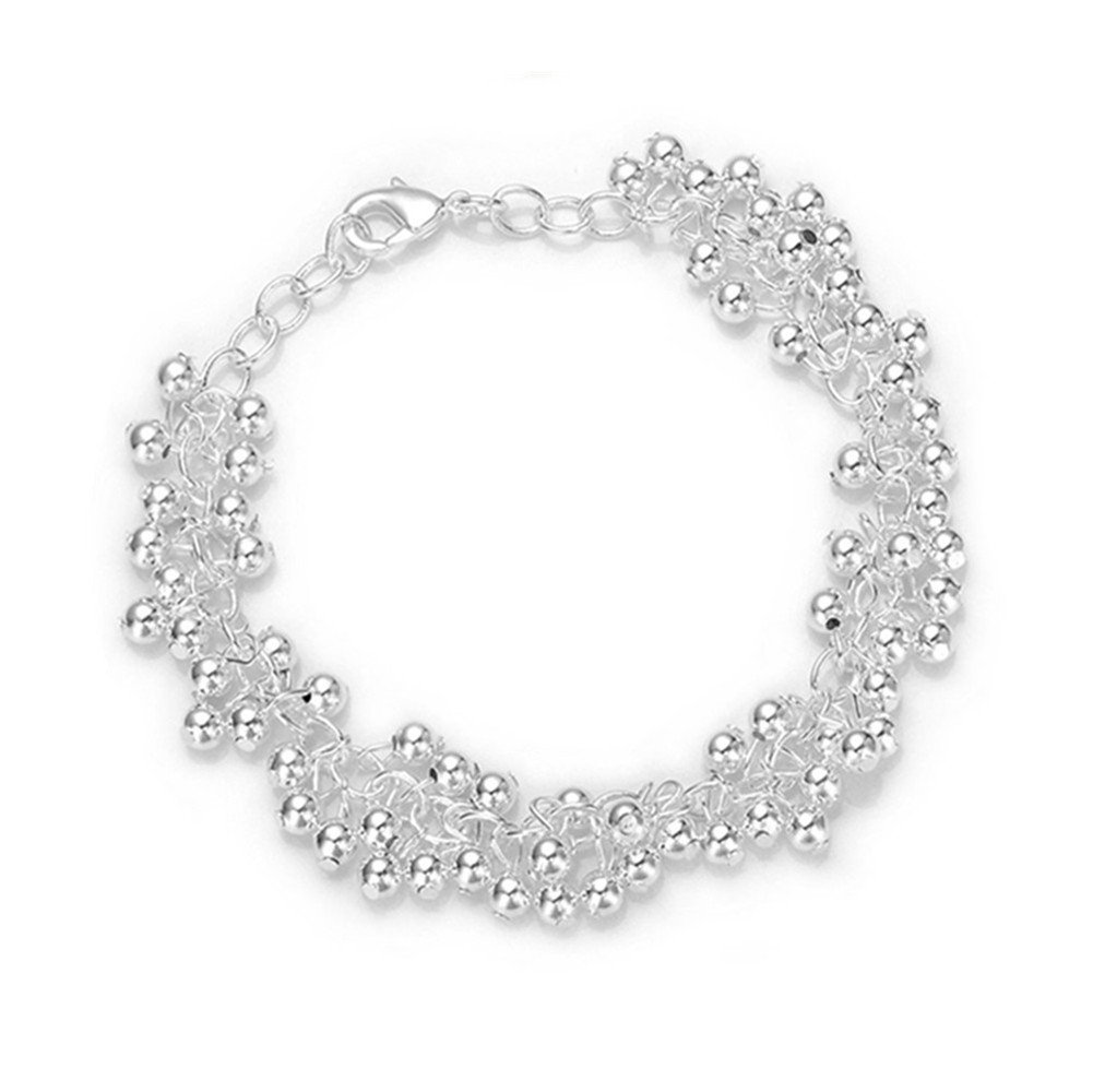 HMILYDYK Hot Sale Jewelry 925 Solid Silver plated Beads Multiple Lady Bracelet
