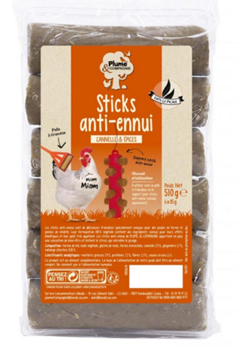 Plume & Compagnie Sticks anti-ennui canelle et épices 6 x 85 g Neodis