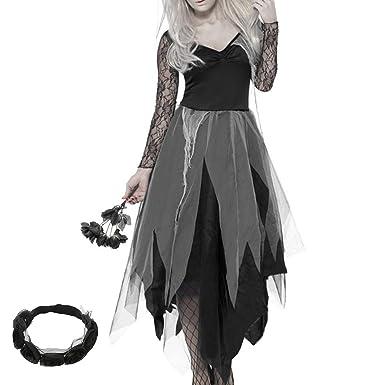 Seebesteu Halloween Decoración Horror Disfraz de Zombie ...