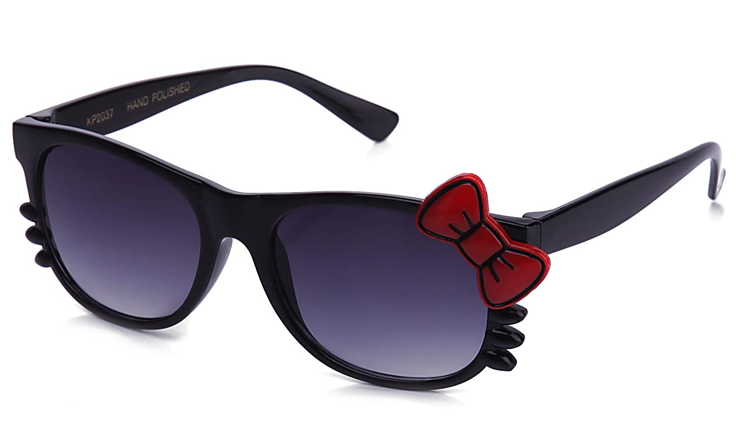 Kyra Kids Plastic Kitty Whiskers /& Bow Sunglasses in Black
