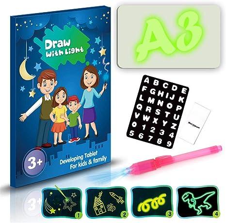 Doodle Drawing Mat, pizarra mágica para niños, con luz infantil ...