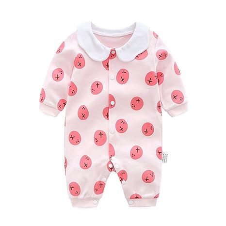 Bebé Niñas Mono Mameluco - Pelele Bebé Pijamas Algodón Mameluco Mono Manga Larga Body