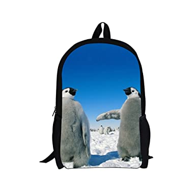 Bigcardesigns Lovely Baby Penguin Backpack for Kids School Book Bag  Teenagers 05c3ebe276568