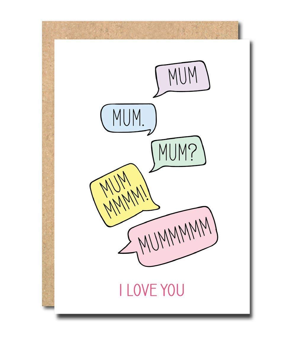 The best Mum ever Card Mothers day card the best mum from son daughter little girl nan me to you Joke i love you mum Funny