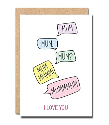 Funny Mother's day card from son daughter little girl nan me